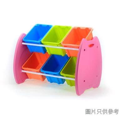 Livinbox 貓頭鷹六格玩具收納架 746W x 490D x 590Hmm EN-HA06 - 彩色