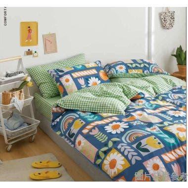 Isabella床品套裝雙人(床笠+枕袋)ML1581 - 春風得意