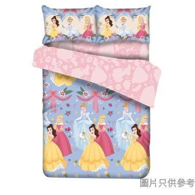 """COTTEX 迪士尼公主柔軟雙人套裝(54""""床笠+2個枕袋+70""""被套)#503 - 紫色"""