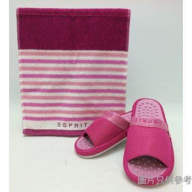ESPRIT拖鞋毛巾禮盒拖鞋260mm 毛巾 310W x 700Dmm GB276 - 紅色