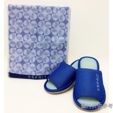 ESPRIT拖鞋毛巾禮盒拖鞋280mm 毛巾 310W x 700Dmm GB277 - 藍色