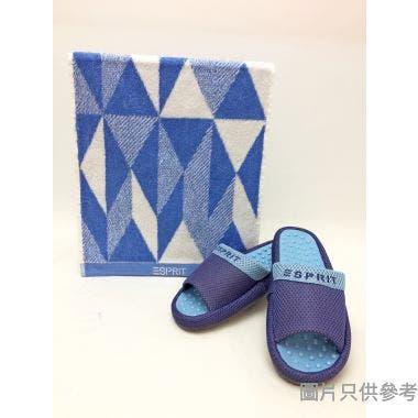 ESPRIT拖鞋毛巾禮盒拖鞋280mm 毛巾 310W x 700Dmm GB278 - 藍色