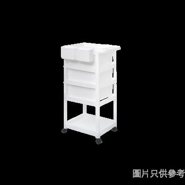 塑膠方型四層推車 420W × 460D × 890Hmm G-3223122 - 白色