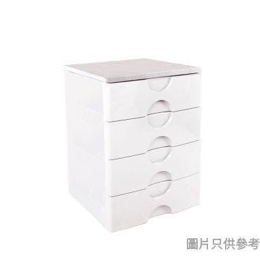 MDF板面4層塑膠密封層櫃560W x 411D x 807Hmm HL7105 - 白色