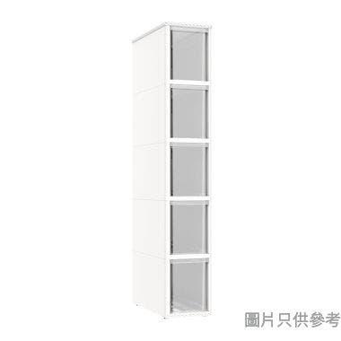 塑膠5層窄身層櫃187W x 405D x 1055Hmm ST3189 - 白色