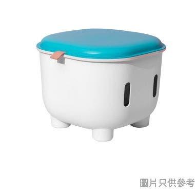 塑膠收納儲物凳 330W x 330D x 250Hmm LSAQ08 - 藍/白色