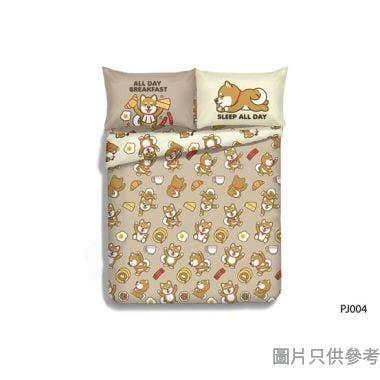 Casablanca PJai 840針純棉印花被袋套裝單人 PJ004 (床笠+枕袋+被袋) - 灰色