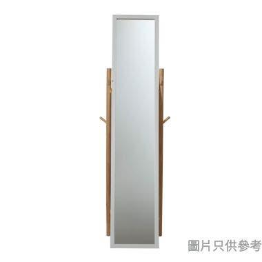 企身鏡連層板附掛勾1460Lx470Wx360Hmm-白色配木色