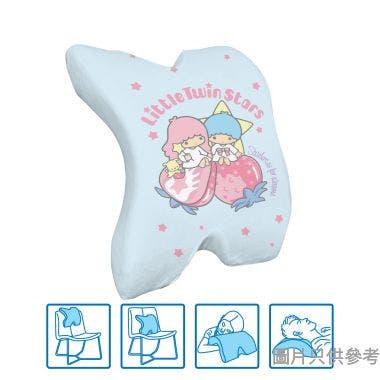 Sanrio Little Twin Stars多用途腰墊 295W x 360D x 130Hmm SA-MPC-2(TS) - 粉藍色