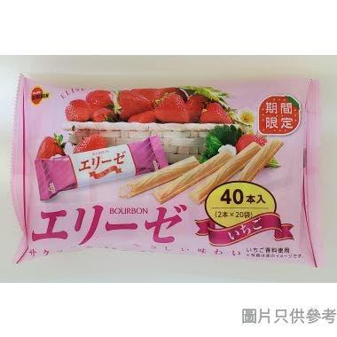 百邦愛麗絲忌廉脆卷 7.2g (40件裝) - 草莓味