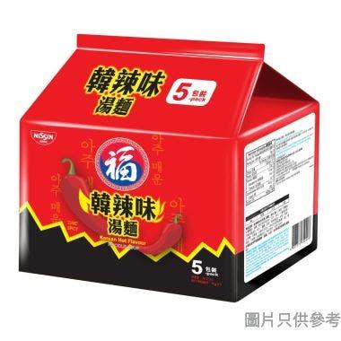 福字亞洲系列湯麵 74g (5包裝) - 韓辣味