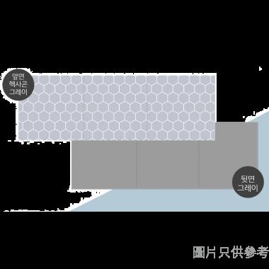 Dfang韓國製防水防滑軟墊 1800W x 700D x 7Hmm B9 - 灰色六角紋