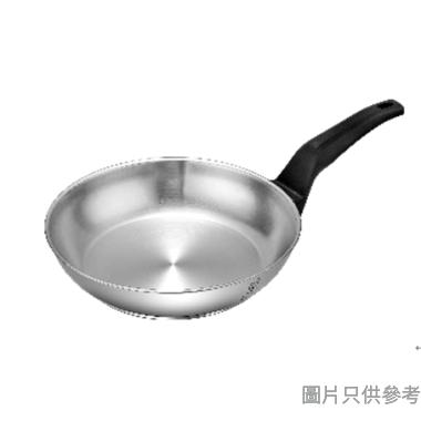 Buffalo 牛頭牌Premiun Cook不銹鋼加厚底電木單柄煎鍋 26cm 34726F - 銀色