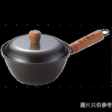 TME 友余台灣製原生鐵單柄鍋附蓋 20cm TK-29-20
