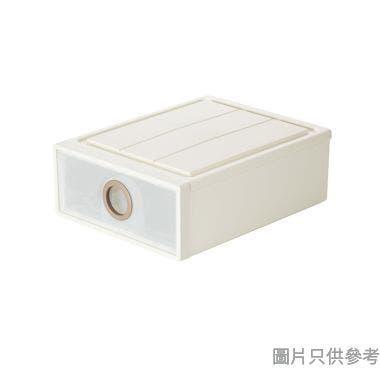 單層塑膠抽屜 500W x 400D x 180Hmm 154013 (細) - 奶茶色