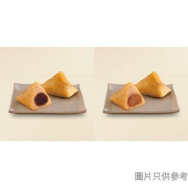 香港榮華黑糖豆沙及清香嫩滑蓮蓉鹼水粽券 (兩隻裝-各一隻)