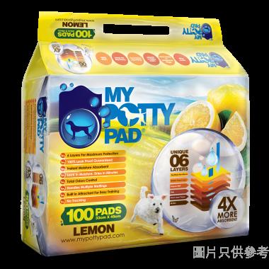My Potty Pad 寵物尿墊 (100片) 33W x 45Dcm MPPL100 - 檸檬味