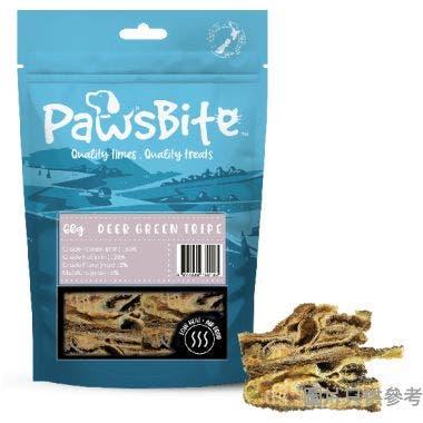 PawsBite 紐西蘭製貓狗小食 60g - 鹿草胃