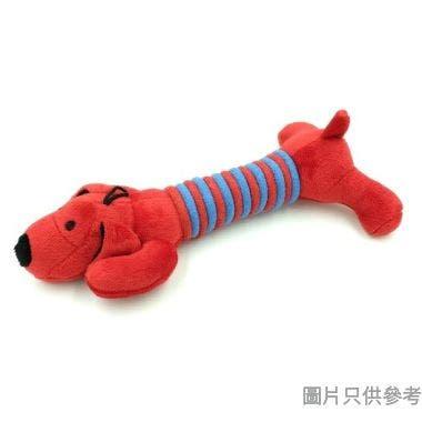 Billipets 長粗綿繩發聲狗玩具 NS-12168-RED - 蠟腸狗