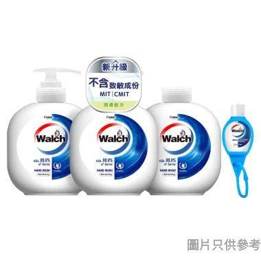 Walch威露士殺菌洗手液 450ml (2支裝連補充裝 + Q版免洗搓手液 20ml) - 潤膚配方