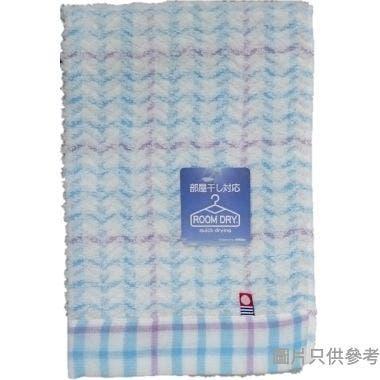 日本製今治方巾 350W x 340Dmm WG200301 - 粉藍色條紋