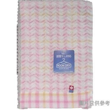 日本製今治方巾 350W x 340Dmm WG200302 - 粉紅色條紋