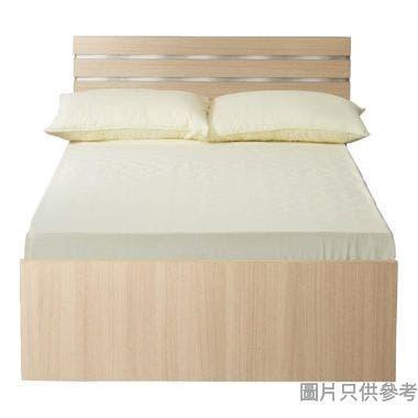 Staple 42吋x72吋波浪紋木屏三櫃桶單人床 - 橡木色