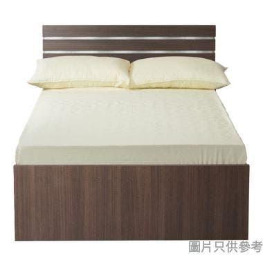 Staple 48吋x72吋波浪紋木屏三櫃桶雙人床 - 胡桃色