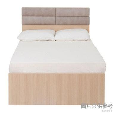 Staple 48x72吋吋四格布藝雙人床 - 胡桃色配白色