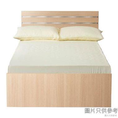 Staple 36吋x72吋波浪紋木屏三櫃桶單人床 (橡木色配銀色/白色)