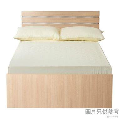 Staple 54吋x75吋波浪紋木屏三櫃桶雙人床 (橡木色配銀色/白色)