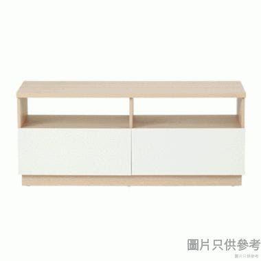 Staple 47吋兩櫃桶電視地櫃 (橡木色/白色)