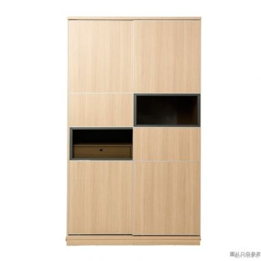 Staple 47吋雙趟門單櫃桶衣櫃 (橡木色)