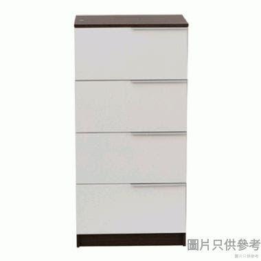 Staple 24吋四桶儲物櫃 (胡桃色與白色)