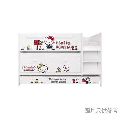 Sanrio CTD-TB02 多功能組合床(書檯,子床及六櫃桶) - Hello Kitty-C (面向計右樓梯)