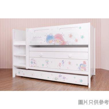Sanrio CTD-TB02 多功能組合床(書檯,子床及六櫃桶) - Little Twin Stars-A (面向計左樓梯)