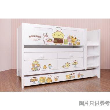 Sanrio CTD-TB02 多功能組合床(書檯,子床及六櫃桶) - 布甸狗-A (面向計右樓梯)