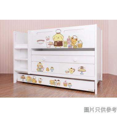 Sanrio CTD-TB02 多功能組合床(書檯,子床及六櫃桶) - 布甸狗-A (面向計左樓梯)