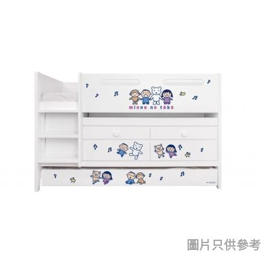 Sanrio CTD-TB02 多功能組合床(書檯,子床及六櫃桶) 大口仔-B (面向計左樓梯)