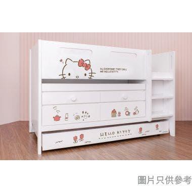 Sanrio CTD-TB02 多功能組合床(書檯,子床及六櫃桶) - Hello Kitty-A (面向計右樓梯)
