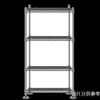 MESH 四層儲存層架(銀色) 900WX450DX1800HMM