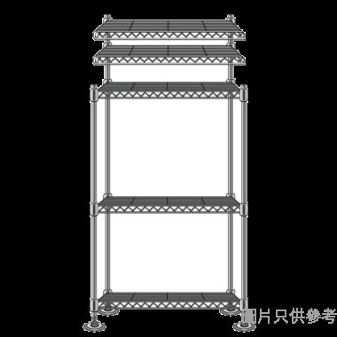 MESH 五層儲存層架(銀色) 600WX300DX1600HMM