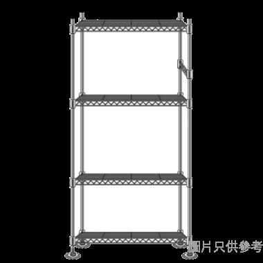 MEGA MESH 衣櫃組合(黑金色) 900WX450DX2200HMM