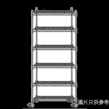 MESH 六層儲存層架(銀色) 430WX450DX1600HMM