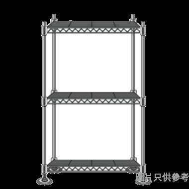 MESH 三層儲存層架(銀色) 350WX350DX600HMM