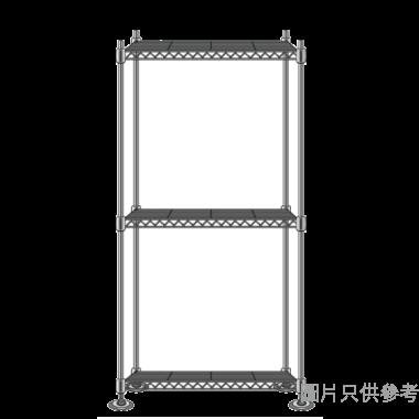 MEGA MESH三層儲存層架配調節腳(黑金色) 750WX450DX1800HMM