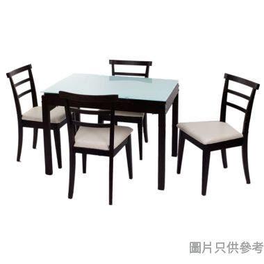 ZH-7098-G3+ZH080C 強化玻璃開合餐檯配四椅 980/1460W x 700D x 750Hmm