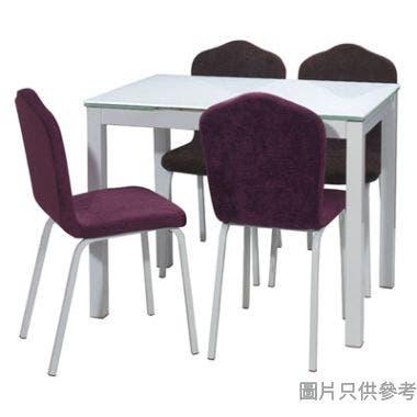 YB-B78-WHPU 白色腳布藝餐椅410W x 470D x 850Hmm - 紫色