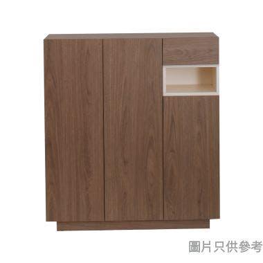 Brick BK-S-401444V 40吋三門單櫃桶儲物櫃 - 胡桃色配白色(1005)
