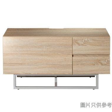 Coleman GM-V-10042 39吋單門兩櫃桶地櫃 - 白檜木紋(1005)